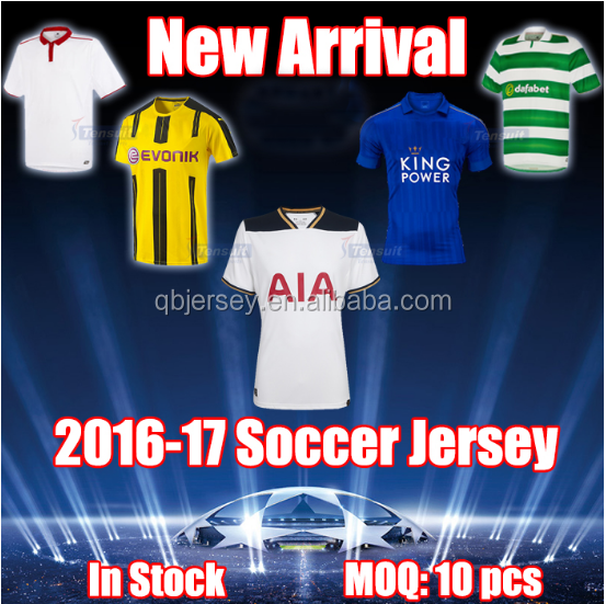 2016-2017 top thailand quality Soccer jersey /football jersey/soccer wear wholesale in-stock