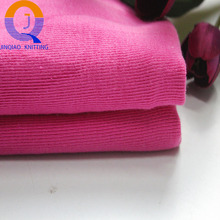 china supplier 32s dyed100 %cotton knitted 1*1 french rib fabric for garment