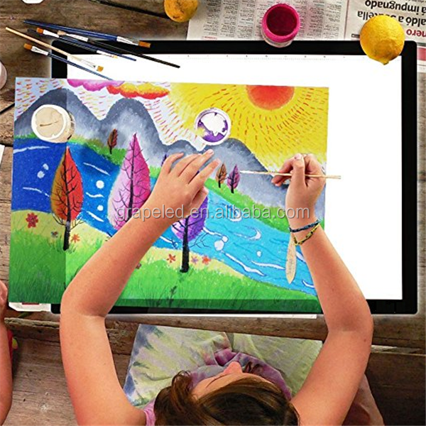 Kids Learning Gift A2 Adjustable Illumination LED Tatoo Artcraft Tracing Drawing Board LED Light Box