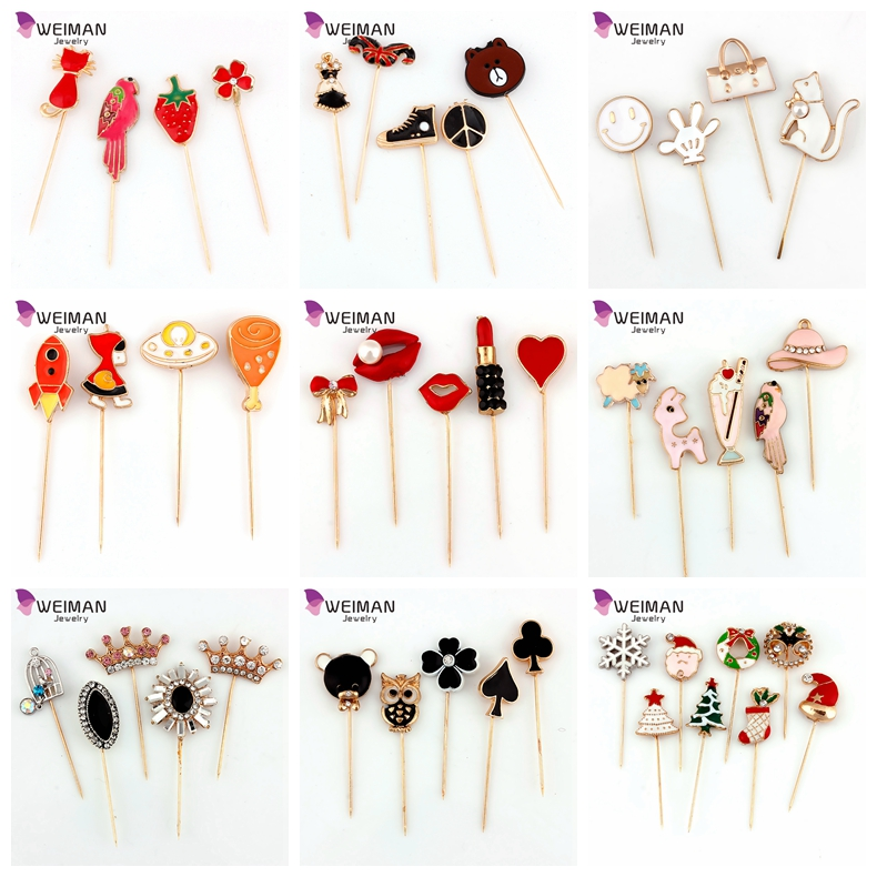 Yiwu Factory direct wholesale metal Custom cute carton hijab brooch pin