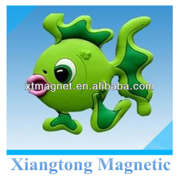 3D Soft PVC Rubber Fish Refrigerator Magnets/ Magnets for Refrigerator for Kids Home Decoration