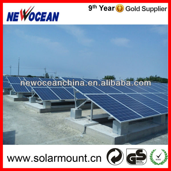 Concrete based flat solarroof/ ground mounting kits aluminum solar brackets