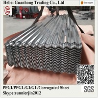 Best Selling Non Asbestos 0.18mm thick Zinc Corrugated Roofing Sheet