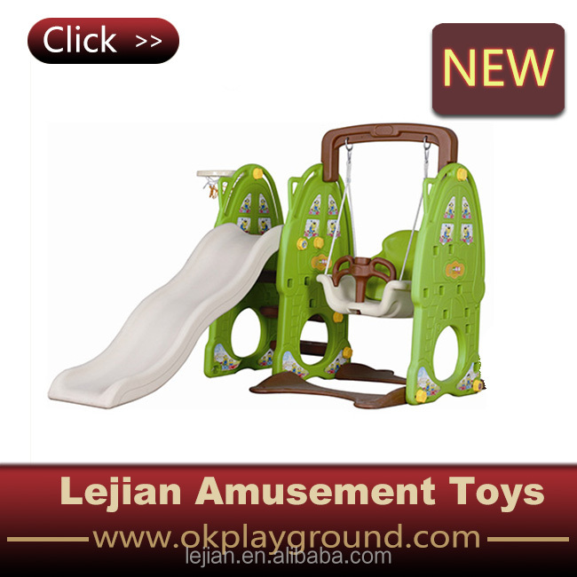 China Factory Price Plastic Swing with Slide for Little Baby (S1609-2)