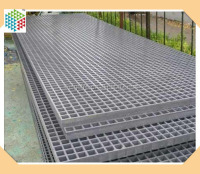 grp frp fiber reinforced plastic lattice flooring walkway trap drainage cover