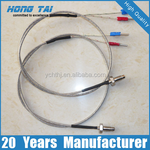 Thermocouple Wire Product : Mm probe thermocouple with metal braid wire buy