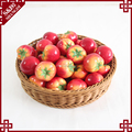 Round shape home or supermarket SGS plastic wicker woven vegetable fruit display using promotion basket