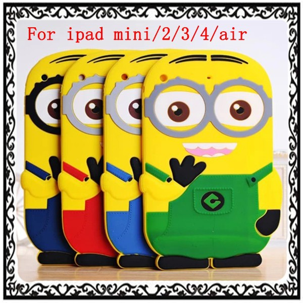 Despicable Me Minion Silicone Case Cover For iPad mini/2/3/4/air