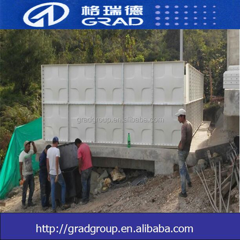 Manufacturer cubic GRP storage water tank/water container