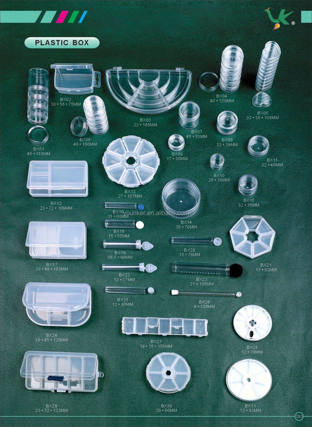 PS Plastic Box Used for Beads and Jewelry Finding packaging.