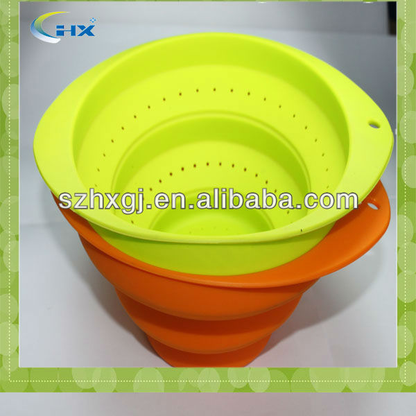 Food grade standard outdoor silicone foldable cup for 2014 world cup promotion