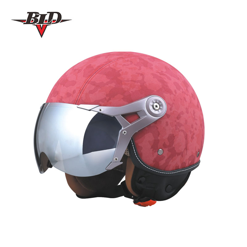 DOT Approval Half Helmet for motorcycle JET leather helmet for scooter BLD-288