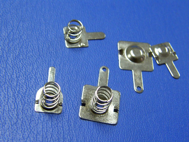 Zinc-Plating metal Battery Contact with Spring
