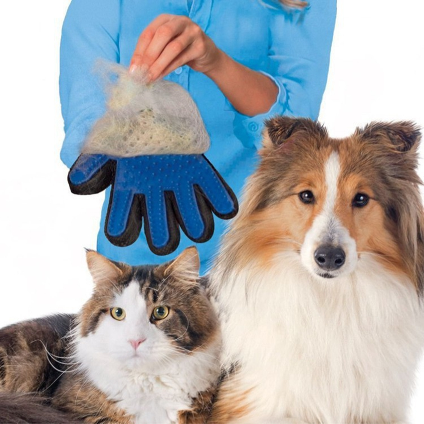 Silicone True Touch Deshedding Pet Brush Bath Glove Dog Cat Gentle Grooming Cleaning Hair Comb Gloves for animal CA5167