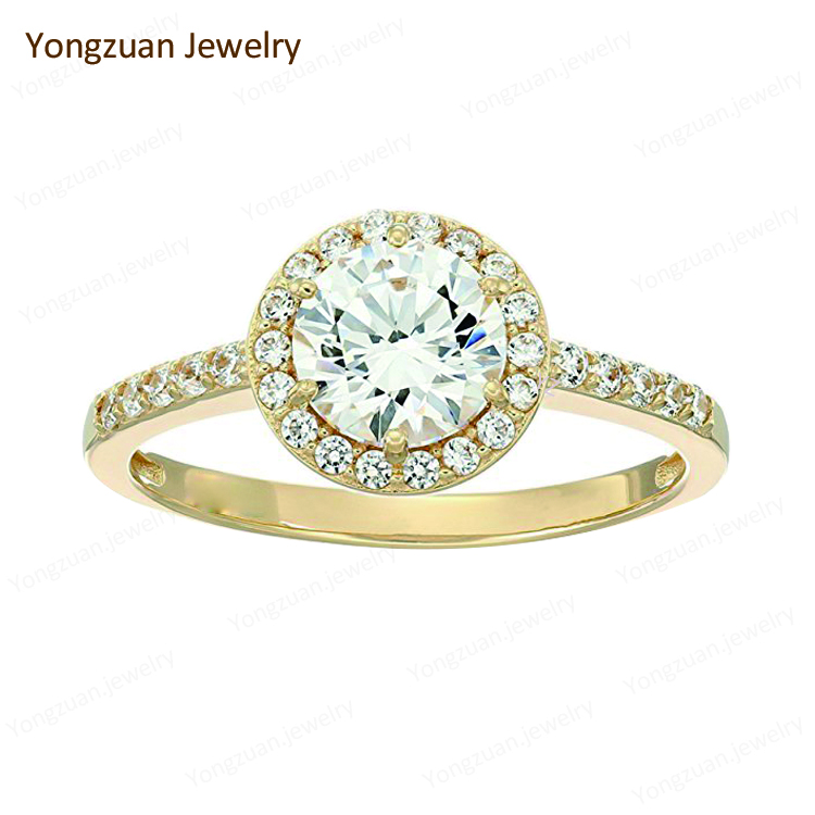 High End Antique Style Fine Diamond Jewellery Wholesale 18k Yellow Gold Wedding Engagement Ring Brilliant cut Diamond Jewelry