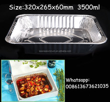 Disposable aluminum foil food plate container/fast food plate/BBQ tin foil plate