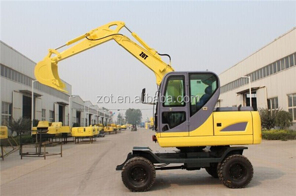 6 Ton Cumins Engine Mini Wheel Excavator For Sale
