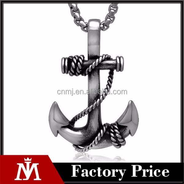 Stainless steel anchor pendant lot , vintage jewelry sea element pendant