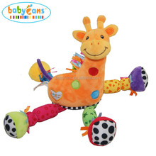Foshan Factory Plush Baby Toys Giraffe Animal China Manufacturer, Happy Stuffed Toys for Kids