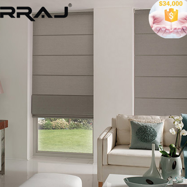RRAJ Pleated Roman Shade with Blackout Fabric