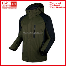 Custom jacket running man made of waterproof polyester honeycomb in olive