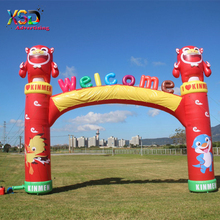 Inflatable Welcome Line Arch for Activity / Inflatable Arch with three-dimensional letter and cartoon model
