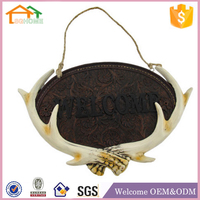 Factory custom made home decor polyresin artificial deer antlers