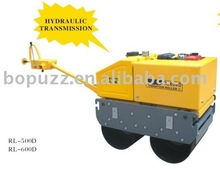 Bomag style double drum walk-behind hydraulic transmission vibration road roller RL600D with CE