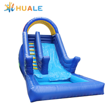 commercial bouncy slide inflatable water slide with pool for kids