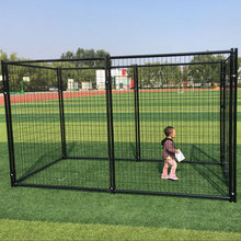 Pet cage animal house wire mesh tube fence panel aluminum 6ft high large dog backyard kennels