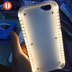 2016 New selfie amazing illuminated led light up selfie phone case led case for iphone 5s from factory