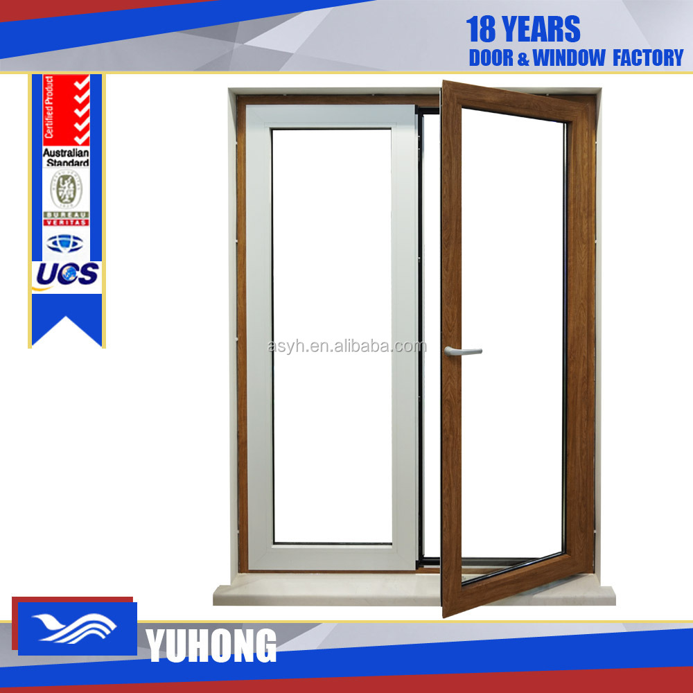 pvc double tempered glass fix glass windows