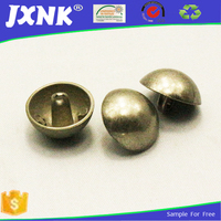 shiny face dome metal sewing button for coats