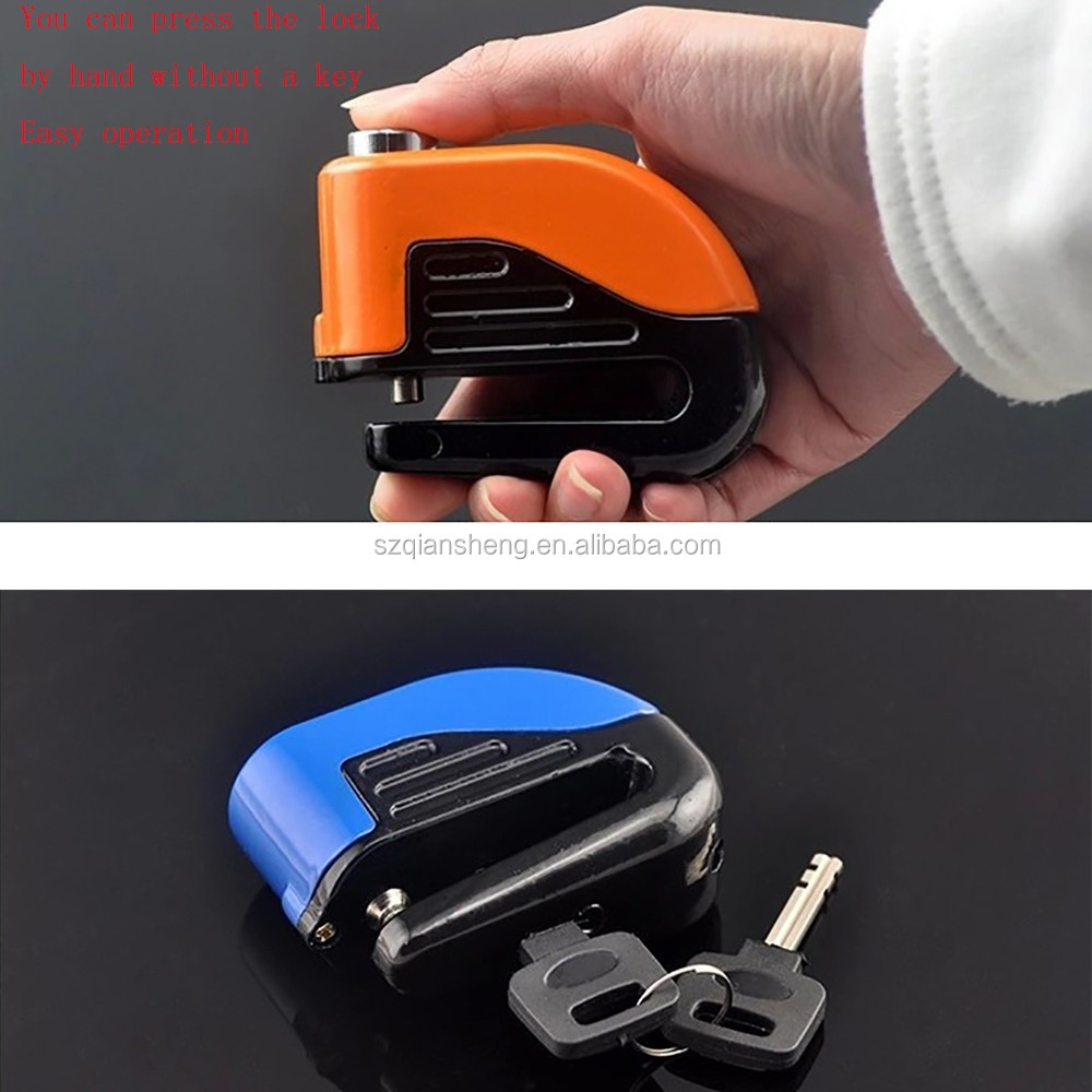 Motorcycle Bike Disc Brake Alarm Lock Bicycle Fixed Anti Theft Security Lock Electric Bike Scooter Wheel Disc Brake Alarm Lock