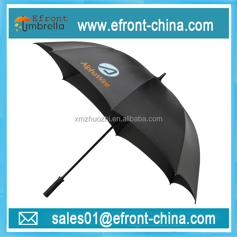 Brand big size parasol logo manual open golf durable ad umbrella