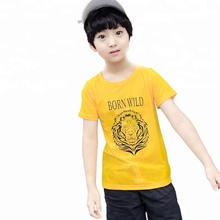 DR180106BG007 Little <strong>boy's</strong> lion pattern printing costume kid <strong>t-shirt</strong>