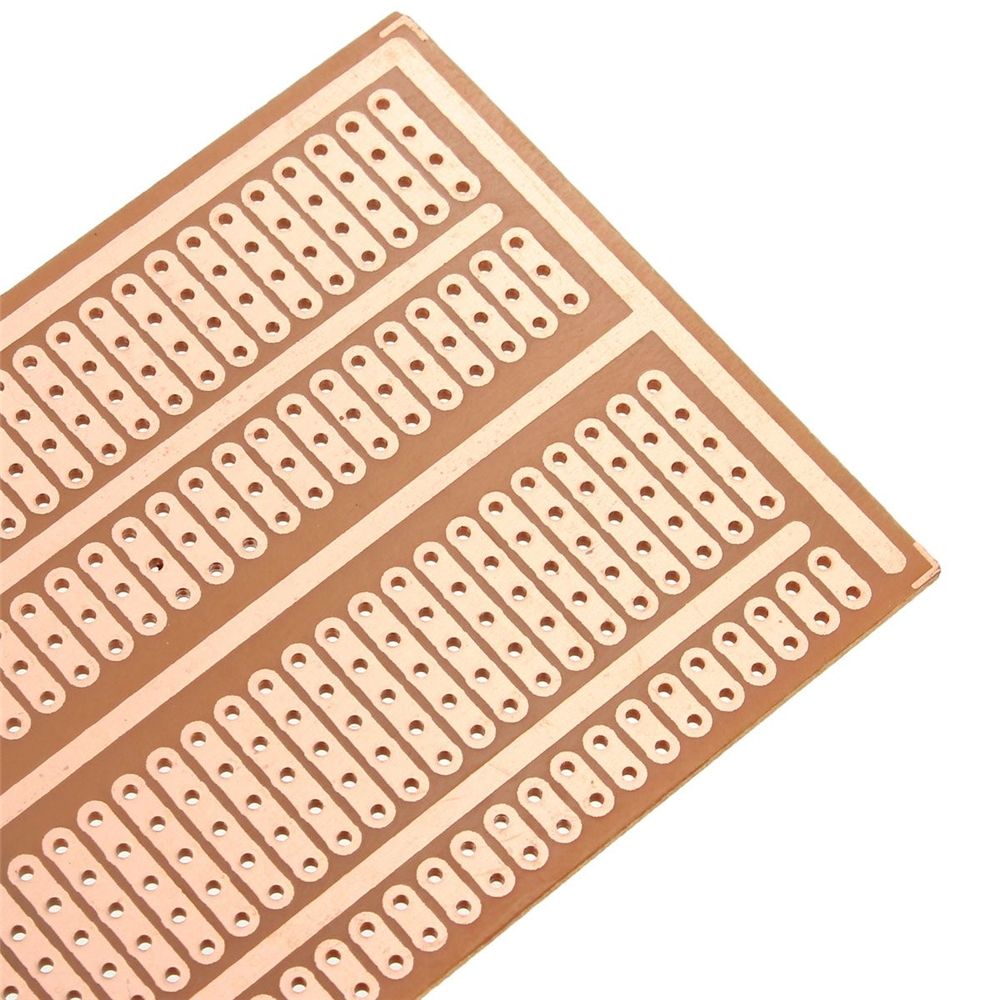 Wholesale universal 5x10cm Solderless PCB Test Breadboard Single Side Copper Prototype Paper Tinned Plate 2-3-5 Joint <strong>holes</strong> DIY