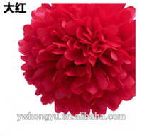2015 Tissue paper pom poms flower balls for wedding decoration