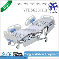 YFD5638K(TypeII) Five Function Electric medical adjustable electric vibrator massage bed D6
