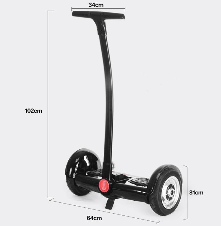 2 wheel smart self balance electric scooter 350 watts with handle bar