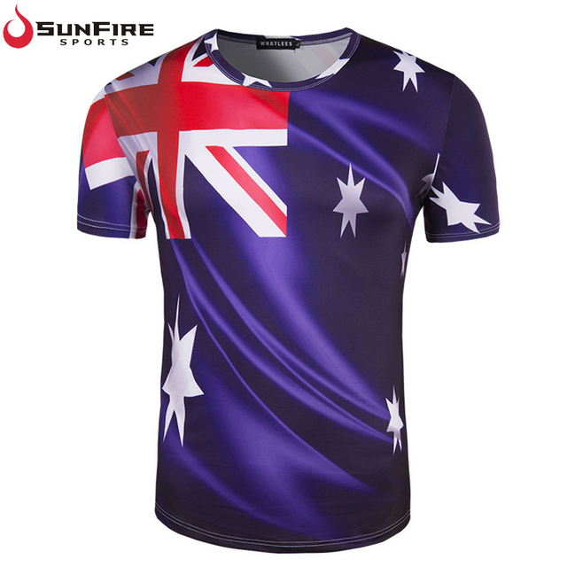 2018 Russia football world cup soccer Australian fans sports t shirt sublimated