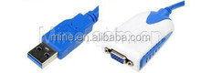 Cable USB Male to Female VGA for extra multi monitors free sample