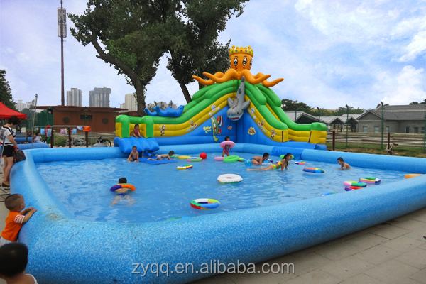 Customized inflatable pool, PVC round pool inflatable for kids fun