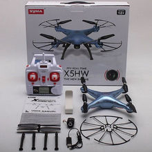 Newest Arrival FPV Camera Drone Syma X5HW WIFI Real Time RC Quad copter upgraded X5SW FPV Helicopter