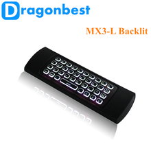 2017 Factory price MX3-L backlit air mouse BT keyboard for smart tv China Somatosensory remote control
