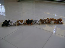 20cm beautiful promotional customized soft stuffed plush lying cat/tiger/dog/leopard/giraffe/lion wild animal toy