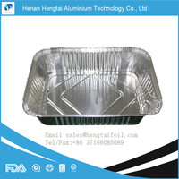 Smooth wall carry out aluminium foil container