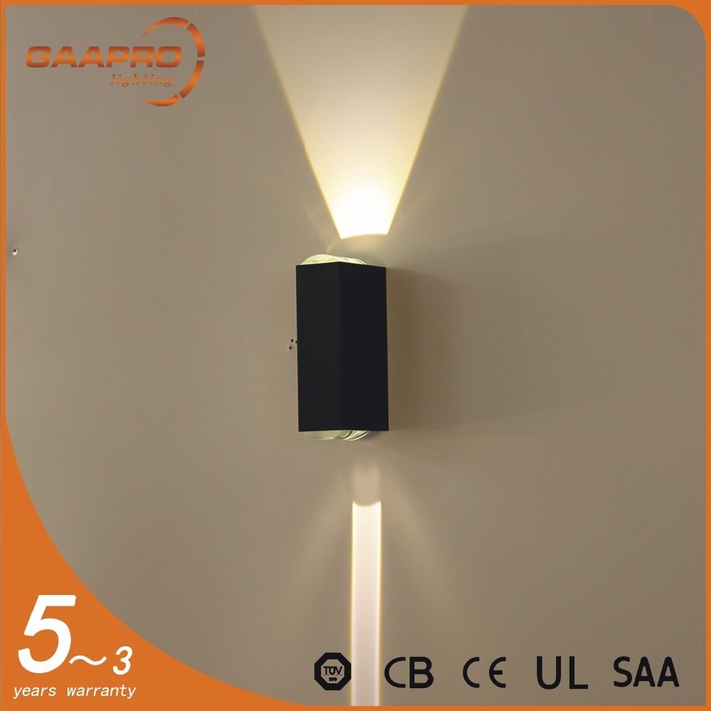 Factory directly provide high quality aluminum ip54 recessed black indoor led wall light