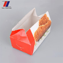 High quality custom made cardboard foldable chicken nuggets box