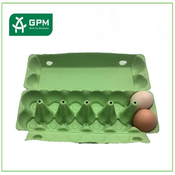 Custom recycled paper 12 cell egg crate carton packing